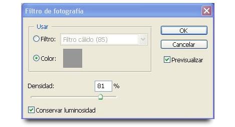 Filtro de Fotografia