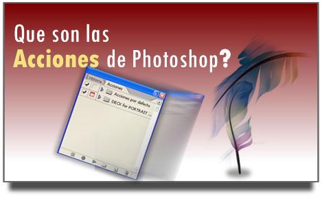 Acciones en Photoshop