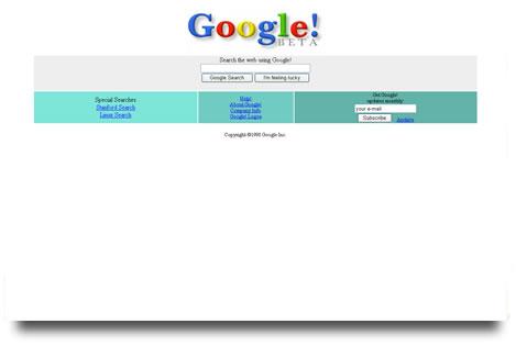 Google en Dic 98
