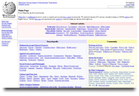 Wikipedia en Diciembre de 2003