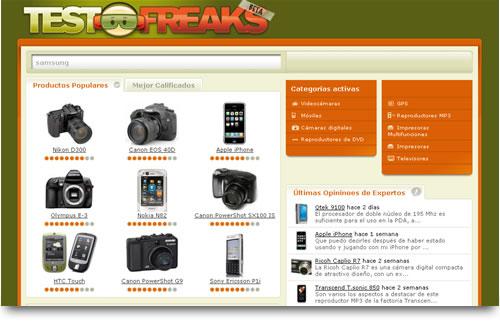 Página de inicio testfreak.com