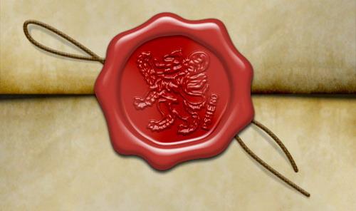 sello de cera antiguo