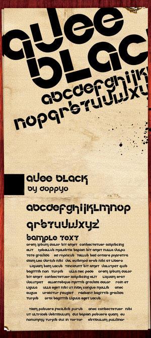 avee-black-font