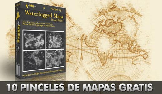 10 brushes de mapas en alta calidad Mapas